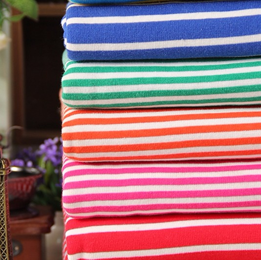 from china stock sample polyester cotton knit stripe yarn dyed german velvet fabric