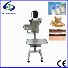 GPF-1000 Vertical small type semi automatic 1000g milk rice flour powder auger screw filler filling machines for bottles