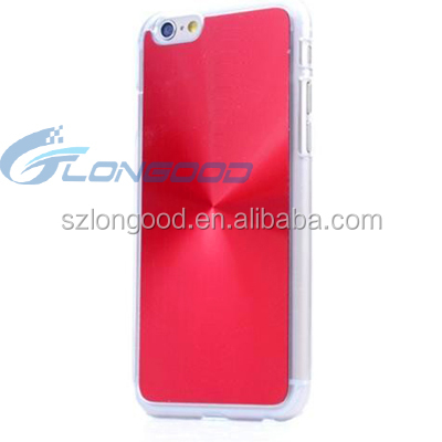 3D phone case for iphone 6 case/waterproof hard pc+Aluminum back cover material cell phone case for Iphone6S