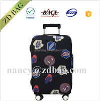 Stronger elastic neoprene suitcase protective cover luggage,custom luggage cover
