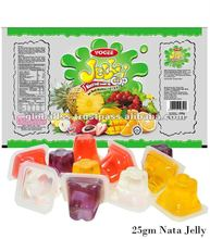 Yogee Coconut Jelly with Nata De Coco (25gm) - jelly, pudding, corn flavour pudding, fruit jelly