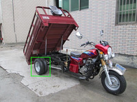 street legal three wheel motorcycle 150cc 200cc rear double wheel oil brake boosting bridge