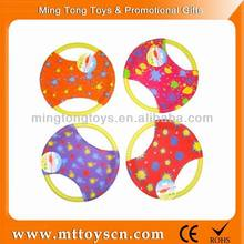 New style AD cloth good quality colorfull round flying disc toy