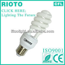 Express alibaba 2013 new product Half spiral cfl/energy saving lamp/light bulb made in China