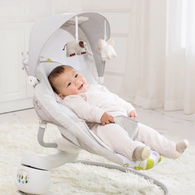 2017 Electric cradle bed shaking bed DQ cradle automatic rocking chair smart coax baby sleeping bed