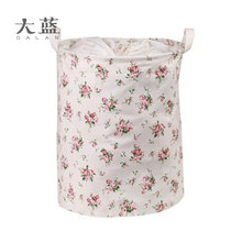 Eco-friendly round cute printed waterproof laundry basket with handles