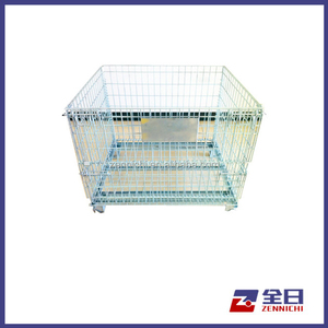 Securiity Wire Mesh Folding Storage Cage with Wheels