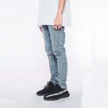 Custom jeans manufactures men in tight denim jeans spray skinny new style pant