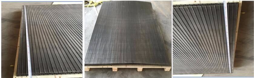 0.5mm slot wedge wire panel and bend screening