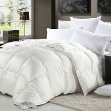 80% Sticky Goose Down Throw Velvet Patchwork Quilt,100% White Silk Sateen Fabric Comforter,King size super Warm Duvet