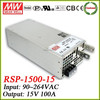 Mean Well high power supply 15v 100a RSP-1500-15