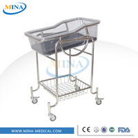 MINA-BB03 Cheap stainless steel hospital paediatric cradle,baby bed