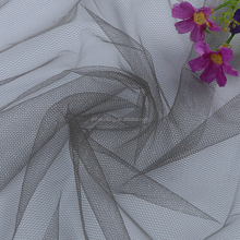 grey polyester nonwoven net mesh fabric for girls dress