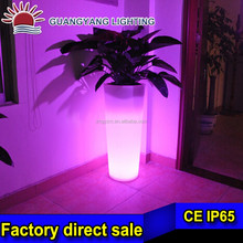Height 88cm pe plastic rgb 16 color changing DC12V battery led vase light