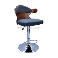 Fashion Modern Girard Alvar Swivel Wooden Bar Stool
