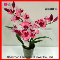 2013 New Style Natural Touch Silk Orchids Christmas Fabric Flower