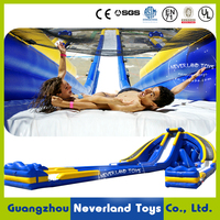 2016 New Design NEVERLAND TOYS Gaint Inflatable Water Slide with Three Lanes for Extremely Excitement