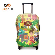 Luckiplus Spandex Travel Luggage Cover Trolley Case Protective Cover Fits 18-32 Inch Luggage