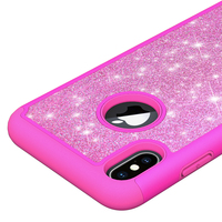 "Smart Phones 3D PU Leather Flip Glittering Phone Cover For iPhone XS Plus 6.5"" Case"