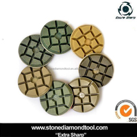 3 inch 10mm Diamond Typhoon Concrete floor Polishing resin pads