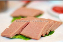 luncheon meat in canned packaging with easy open or normal open