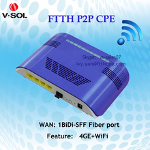 high quality optic fiber equipment 4GE WIFI P2P indoor CPE on hot sale