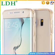 360 Degree Cases for Samsung Galaxy S6 Edge /S6 Edge Plus Front Back Protective Soft TPU Clear Transparent Full Coverage Cover
