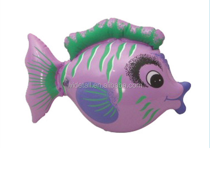 2017 hot sale inflatable fish toys /high quality pvc model