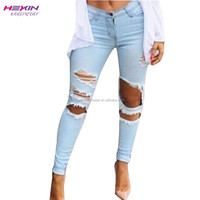 Jeans Manufacturers China Latest Jeans Tops Girls No MOQ Limited