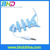 Nice Style Custom Silicone cut fish bone Headphone Cord Cable Winder