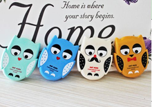 funny animal shaped whiteboard chalk eraser, bird and owl eraser