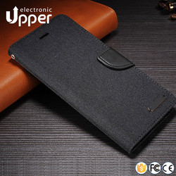 Magnet Wallet book style case PU leather flip cover for samsung galaxy j7