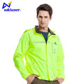 Cycling reflective jacket with LED safety lights for motorcycle riders