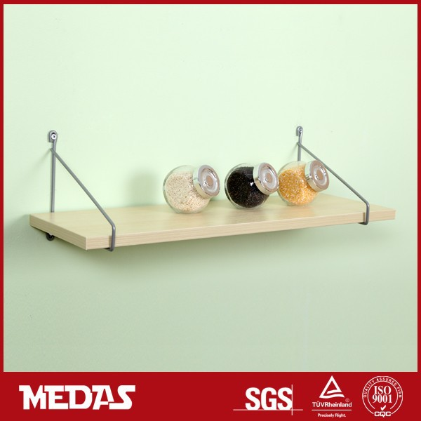 floating wire ladder wooden shelf kit for home decoration