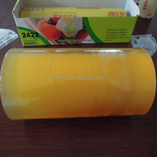 fresh food packaging/waterproof pvc fruit wrap/plastic cling film10mic