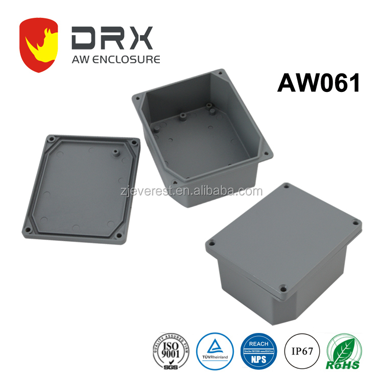 Dustproof round aluminum tool metal electronic battery box