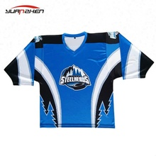 09 YUANZHEN- Digital printing youth reversible team ice hockey jersey with oem service