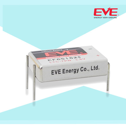 EVE Battery Li-SOCl2 EF651620 Prismatic and Coin Batteries LTC-7PN 3.6V 800mAh