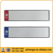 IND hot stamping license number plate