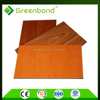 Greenbond exterior decorative wall acp panels solid wood flooring with CE certification