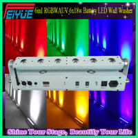 Professional Stage Lighting Rechargeable DMX Wireless Battery Powered 6x18w 6in1 RGBWAUV LED Wall Washer Light