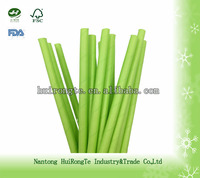 disposable high quality green paper straw
