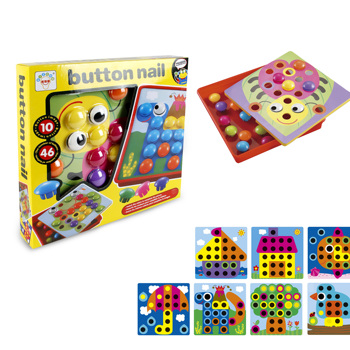 kids education game Matching Mosaic Pegboard art button toys