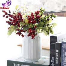 Garden Decoration Christmas berry picks supplier plastic berry