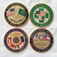 Wholesale Gold Plated Cheap Custom Metal Challenge Coin For Sale