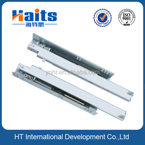 HT-01.024 full extension soft close push to open concealed drawer slides undermount drawer slides