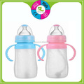 High quality baby feeding bottle silicone bottle with handle milk bottle