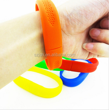 Low Price PVC Colorful Bracelet USB 2.0 Flash momery with OEM Logo For Promotion Gift