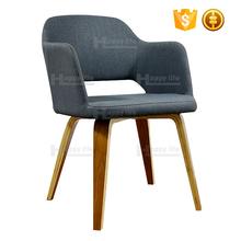 Restaurant Designer Fabric Wooden Modern Dining Chairs