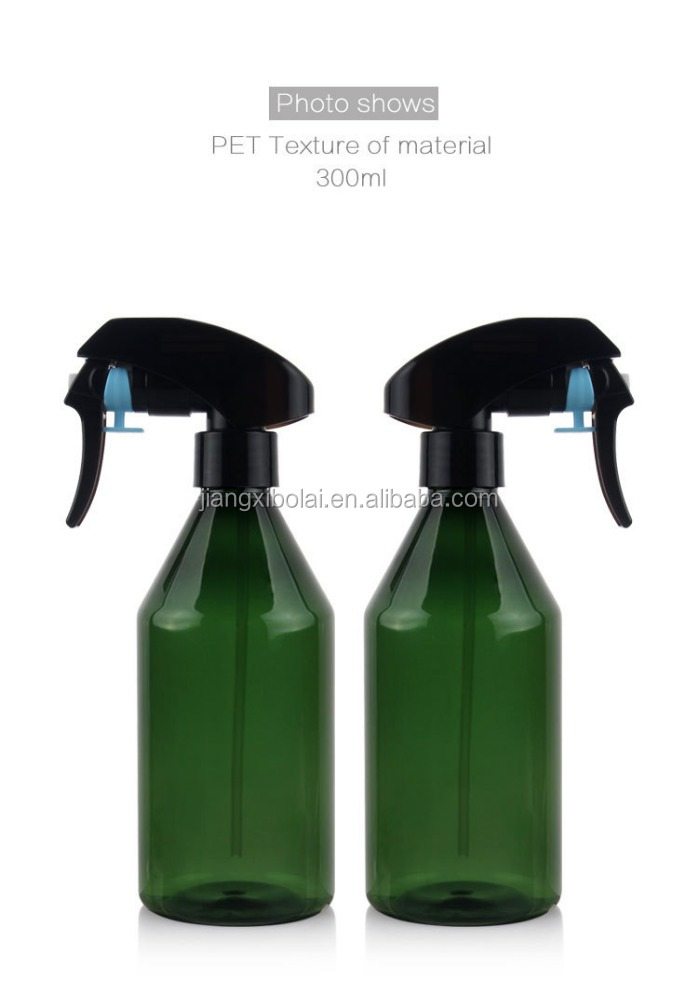 Brand New 10 Oz Dark Green PET Plastic Empty Bottle Vial with White Trigger Spray Top